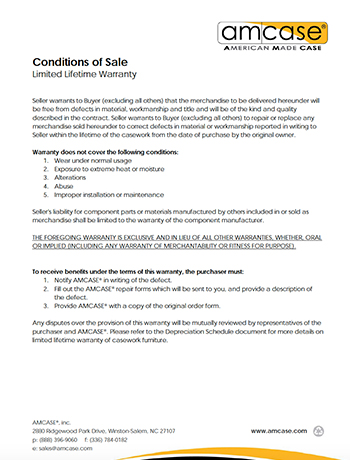 PDF thumbnail of Amcase <br>Warranty